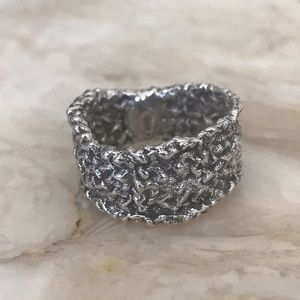925 Sterling Silver Handcrafted Wide Band